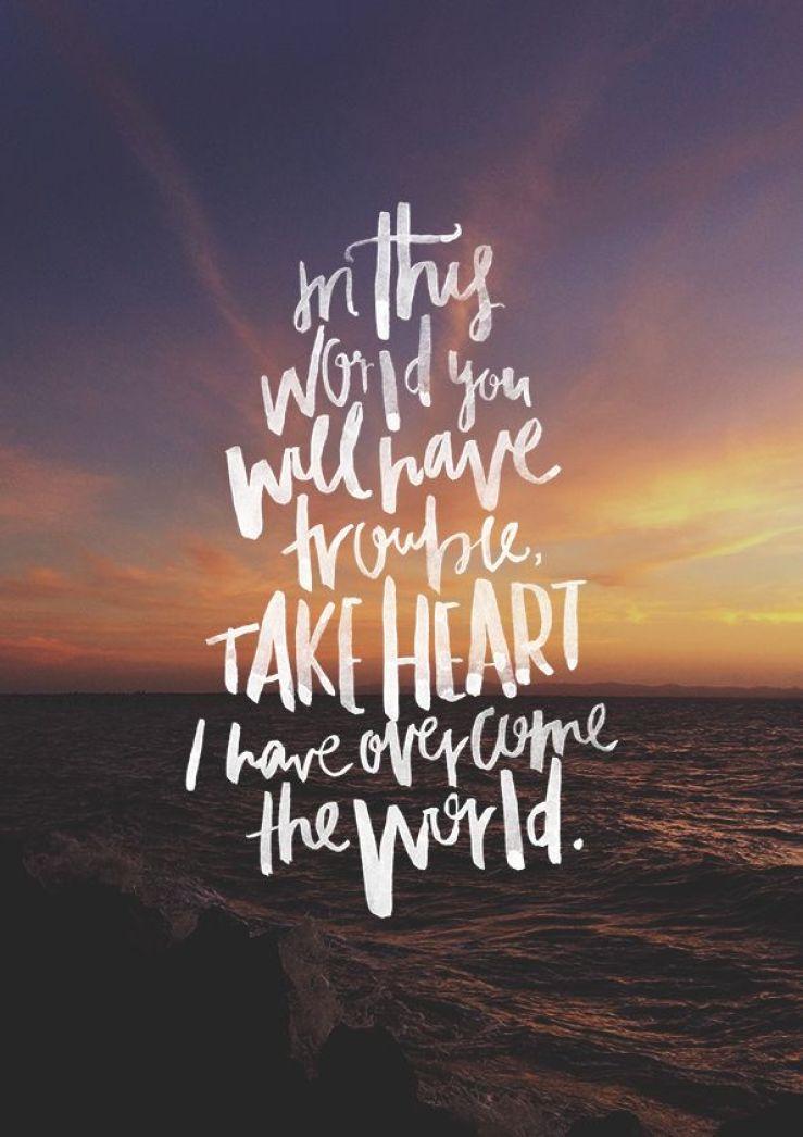 Scripture Sunday: John 16:33 – a passionate pursuit